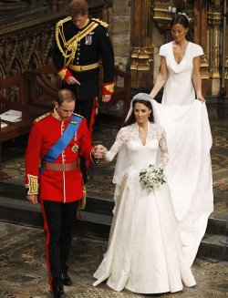 The Royal Wedding at Westminster Abbey in London