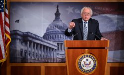 Sen. Bernie Sanders speaks on Social Security in Washington