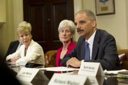 Attorney General Eric Holder and HHS Secretary Kathleen Sebelius announce a public-private partnership to prevent health care fraud in Washington