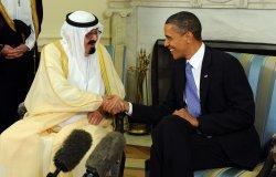 Obama meets with Saudi King Abdullah in Washington