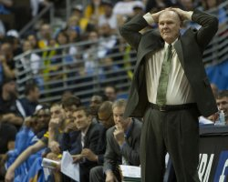 Nuggets Head Coach Karl Reacts During the NBA Western Conference Playoffs First Round Game Three in Denver