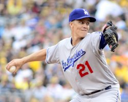 Dodgers Pitcher Zack Greinke Starts in Pittsburgh