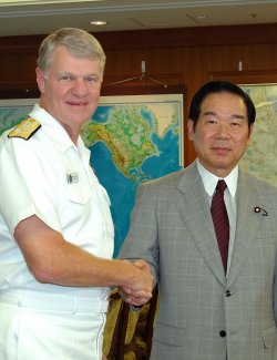 ADMIRAL ROUGHEAD CALLS ON JAPANESE DEFENSE AGENCY