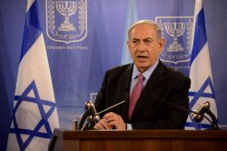 Israeli Prime Minister Benjamin Netanyahu And UN Secretary-General Ban Ki-moon Press Conference