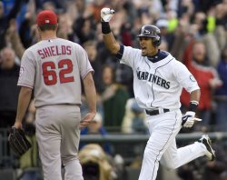 L.A. Angels vs Seattle Mariners in Seattle