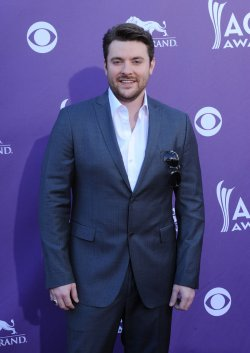 Musician Chris Young arrives at the Academy of Country Music Awards in Las Vegas