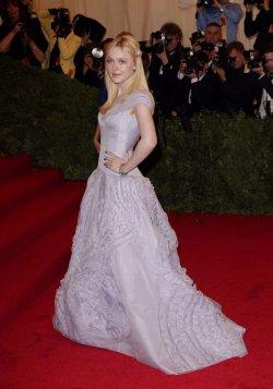 Dakota Fanning at the Costume Institute Gala Benefit in New York