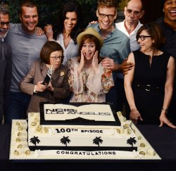 """NCIS: Los Angeles"" celebrates 100th episode at Paramount Studios"