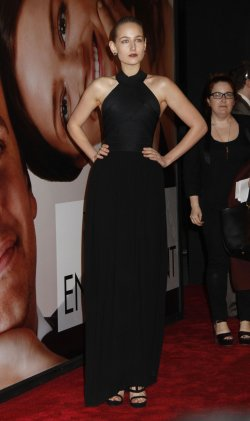 """LeeLee Sobieski arrives for the Opening Night Premiere of """"The Five-Year Engagement"""" at the Tribeca Film Festival in New York"""