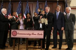 BUSH SIGNS BILL TO PLACE STATUE OF ROSA PARKS IN CAPITOL
