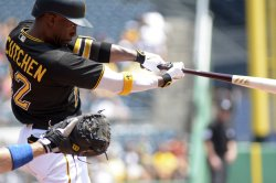 Pittsburgh Pirates Andrew McCutchen doubles in Pittsburgh