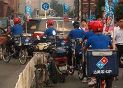 Domino's pizza is marketed in Beijing