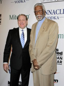 Curt Schilling and Bill Russell at the 2010 Sports Illustrated Sportsman of the Year CelebrationNew York