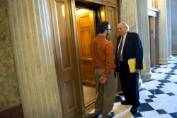 Senators vote on the Budget Resolution in Washington