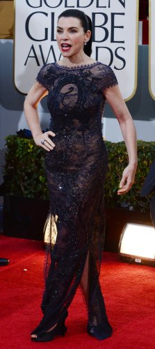 Julianna Margulies attends the 70th annual Golden Globe Awards in Beverly Hills, California