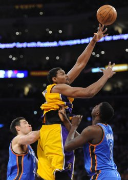 Los Angeles Lakers vs Oklahoma City Thunder Game 4 NBA Western Conference Semifinals in Los Angeles