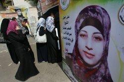 Palestinian Hana'a Shalabi Israeli incarceration protested in Gaza