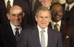 Baseball Hall of Famers at the White House