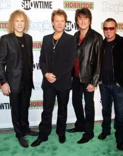 "Bon Jovi arrives for the ""Bon Jovi: When We Were Beautiful"" Premiere in New York"