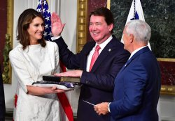 William Hagerty is sworn-in as the U.S. Ambassador to Japan in Washington, D.C.