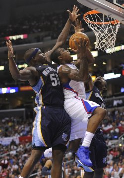 Los Angeles Clippers play the Memphis Grizzlies in Los Angeles