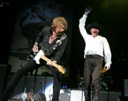 Brooks and Dunn perform in concert in West Palm Beach, Florida