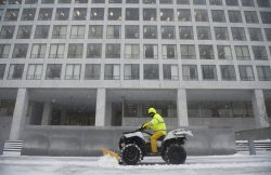Snow Storm hits the East Coast in Washington, D.C