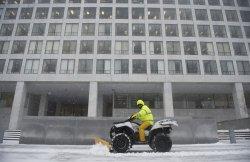 Snow Storm hits the East Coast in Washington, D.C