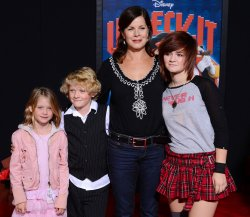 "Marcia Gay Harden and family attend the ""Wreck-It Ralph"" premiere in Los Angeles"