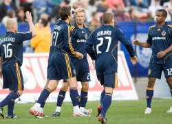 David Beckham and the LA Galaxy play exhibition game in Edmonton