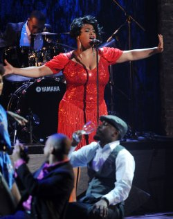 Jill Scott performs at the BET Awards in Los Angeles