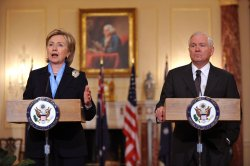 Secretary Clinton meets with Australian Foreign Minister Smith in Washington