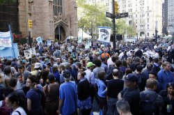 Flood Wall Street protest in New York
