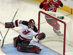 NHL Hockey New Jersey Devils vs Carolina Hurricanes in Raleigh