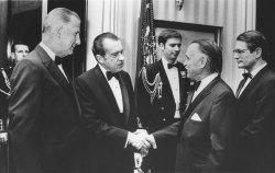 Richard Nixon greets the Governor of Puerto Rico, Louis Ferre