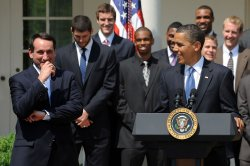Obama hosts Duke Blue Devils at White House
