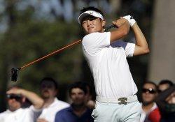 Ryuji Imada hits a tee shot at Ridgewood Country Club in New Jersey