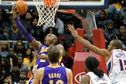 The Atlanta Hawks play the Los Angeles Lakers in Atlanta