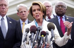 House Minority Leader Pelosi speaks to the Press in Washington, DC