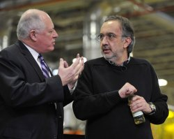 Chrysler Chairman and CEO Marchionne Talks With Illinois Gov. Quinn in Belvidere, Illinois