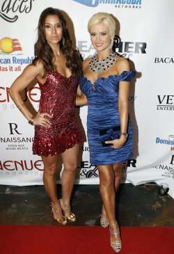Roselyn Sanchez and Holly Madison arrive at the 7th Annual Leather and Laces party in Miami