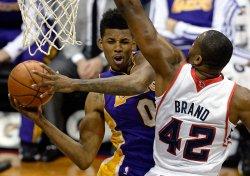 The Atlanta Hawks play the Los Angeles Lakers in Atlanta