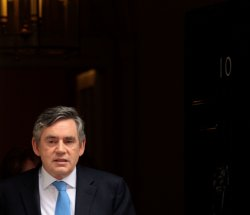 British PM Gordon Brown faces pressure in London