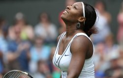 Serena Williams wins at Wimbledon.