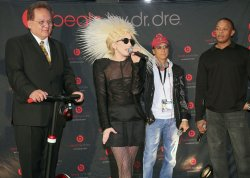 Lady Gaga and Dr. Dre attend the Consumer Electronics Show in Las Vegas