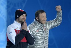 Victory Ceremony at the Sochi 2014 Winter Olympics
