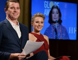 Garrett Hedlund and Kristen Bell announce the nominees for the 75th Golden Globe Awards in Beverly Hills