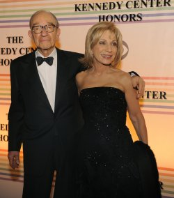 Andrea Mitchell and Alan Greenspan attend 2011 Kennedy Center Honors in Washington DC