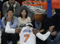 New York Knicks Carmelo Anthony dunks the basketball