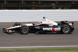 Indy Car points leader Will Power gets ready with Team Penske in Indianapolis